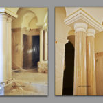 Painting_of_gypsum_columns_under_the_stone_travertine_as_on_the_wall