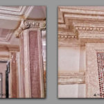 Decorative_painting_of_gypsum_cornice_under_marble