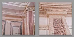 Decorative_painting_of_gypsum_cornice_under_marble