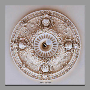 Decorative_painting_of_plaster_ceiling_rosette