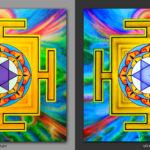 Bhuvaneshvari Yantra. Помогает достичь пробуждения / Helps to achieve awakening. 1x1m Acrilic on canvas.