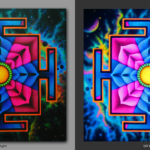Shiva Yantra. Дает силу ума / Gives the power of the mind 1x1m Acrilic on canvas.