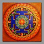 Fire Mandala / Manipura chakra / Символизирует энергию солнца / Symbolizes the energy of the sun 1x1m Acrilic on canvas